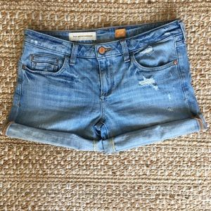 Anthro Pilcro Distressed Stet Denim Shorts Q